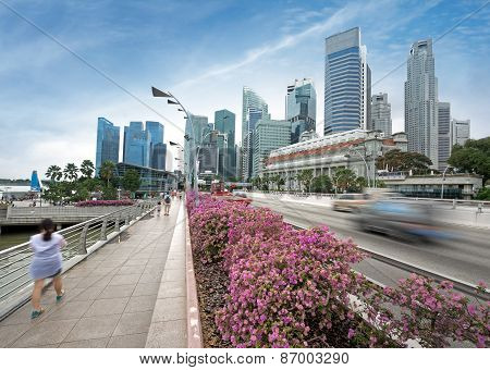 city traffic in Singapore