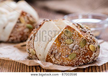 Pretzel Rolls (with Seeds)
