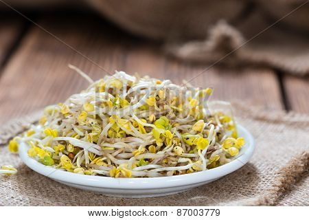 Portion Of Radish Sprouts