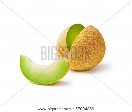 Melon Honeydew And A Slice