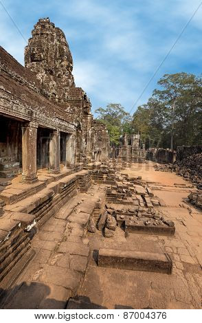 Khmer temple at Bayon
