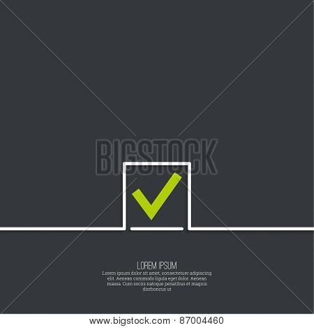 Vector banners with check marks