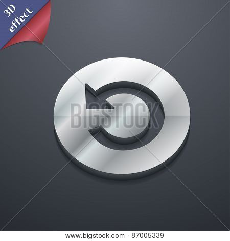 Icon Symbol. 3D Style. Trendy, Modern Design With Space For Your Text Vector