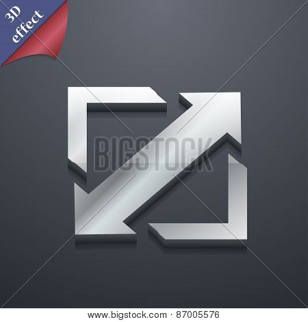 Deploying Video, Screen Size Icon Symbol. 3D Style. Trendy, Modern Design With Space For Your Text V
