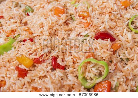 Vegetable Fried Rice At A Chinese Restaurant Buffet