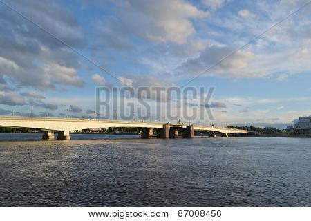 Alexander Nevsky Bridge At Evening.