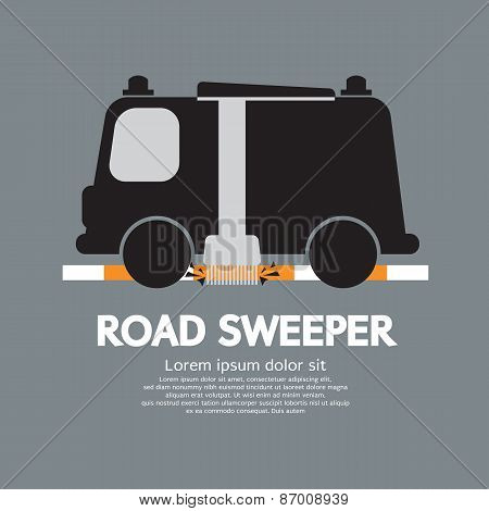 Road Sweeper Car.