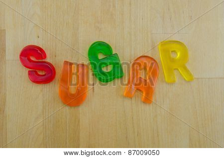 Gummy Words Sugar Jumbled