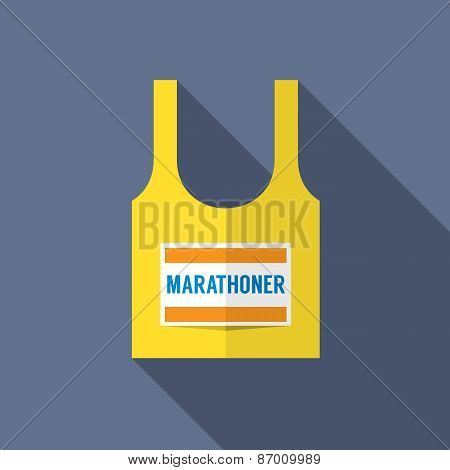 Singlet Of Marathon Runner.
