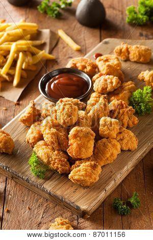 Homemade Crispy Popcorn Chicken