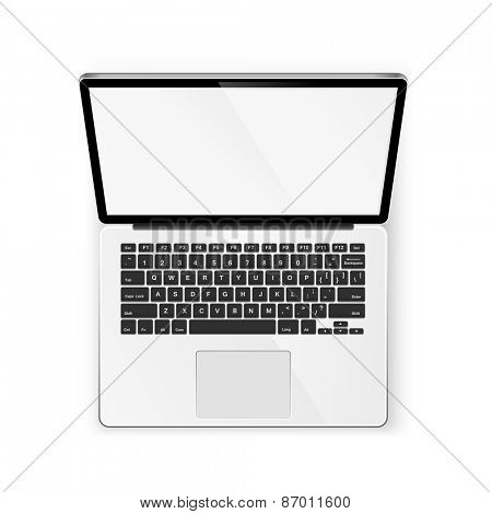 Open notebook isolated on white background. Vector illustration