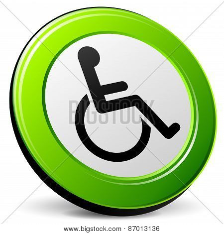 Wheelchair 3D Icon