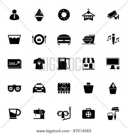 Franchisee Business Icons On White Background