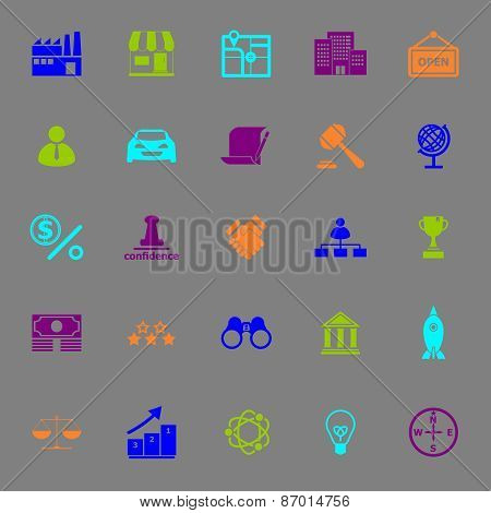 Franchise Color Icons On Gray Background