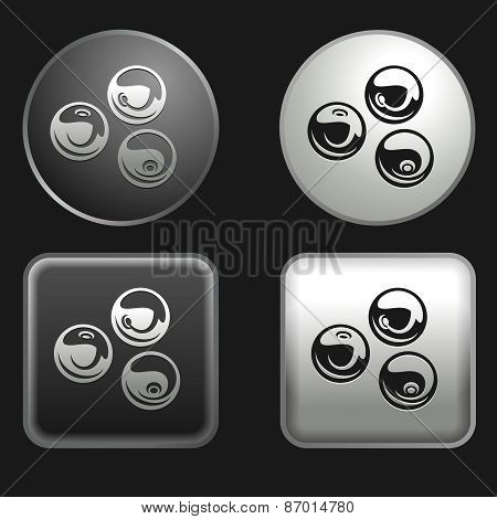 Cranberry Icon On Round And Square Buttons