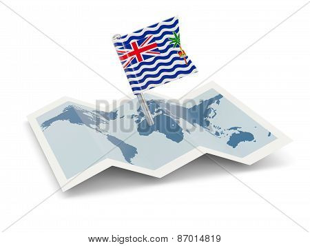 Map With Flag Of British Indian Ocean Territory