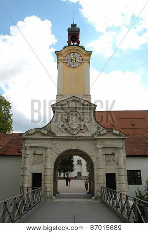 Armament Museum Gate In Ingolstadt In Germany