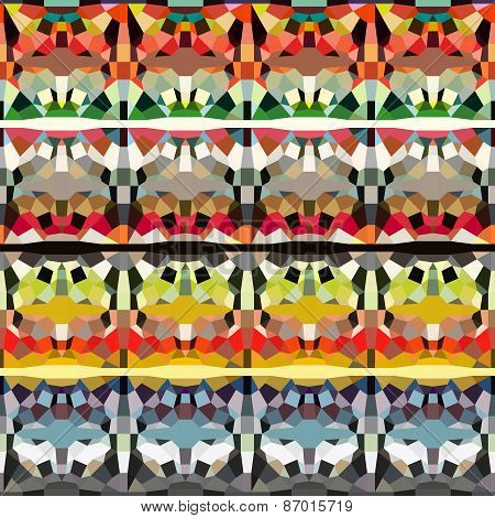 Geometric Pattern In Multiple Color
