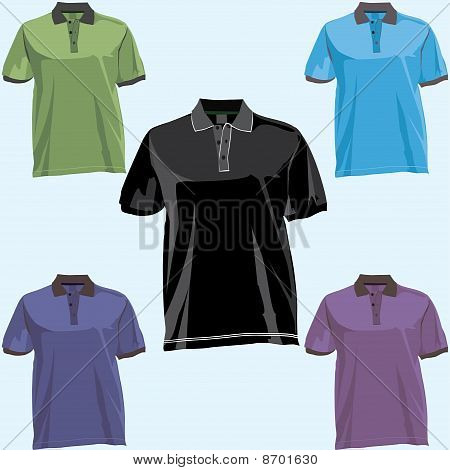 Shirts with collar set.