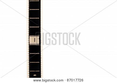 Number One Countdown Movie Filmstrip Vertical And Copyspace