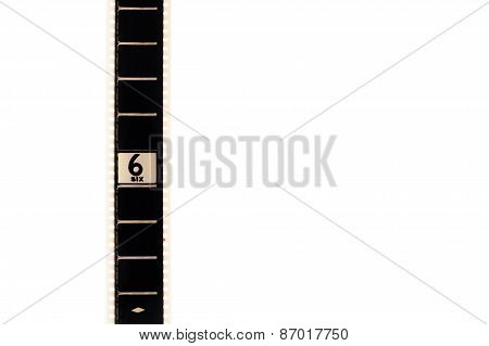 Number Six Countdown Movie Filmstrip Vertical And Copyspace