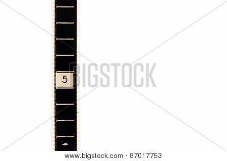 Number Five Countdown Movie Filmstrip Vertical And Copyspace