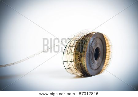 35Mm Movie Reel With Selective Focus Vintage Color Look