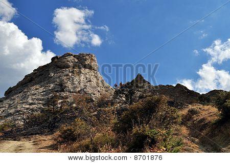 rock Saccharine Head Crimea Ukraine