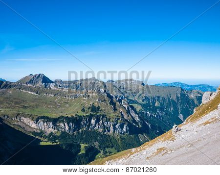Panorama View Of The Alps Near Uri Rotstock