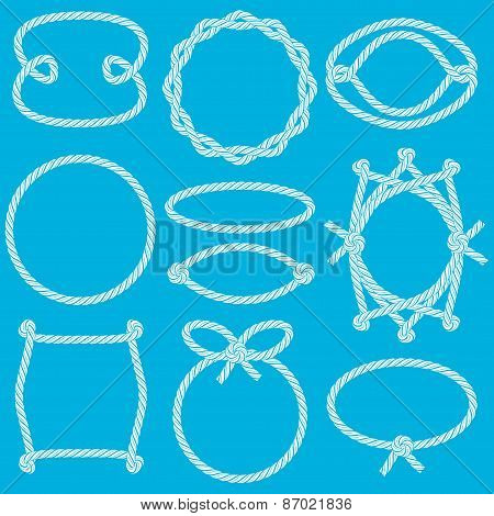 Set Of Marine Rope Frames