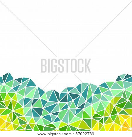 Low Poly Triangles Bottom Border
