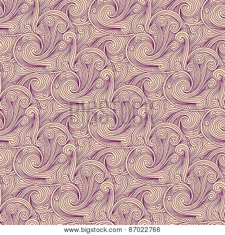 Seamless Pink Engraving Pattern