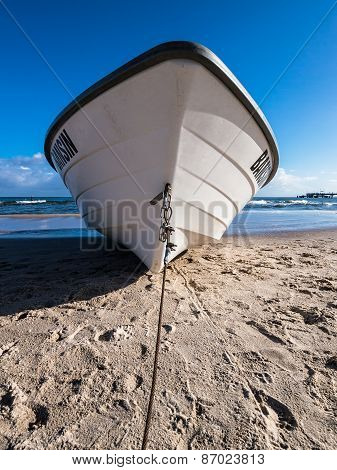 Fishing Boat On The Beach Of Bansin