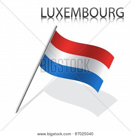 Realistic Luxembourg flag