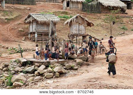 Akha Village In Phongsali, Laos