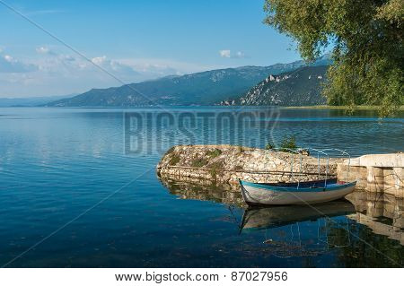 Ohrid Lake In The Macedonia