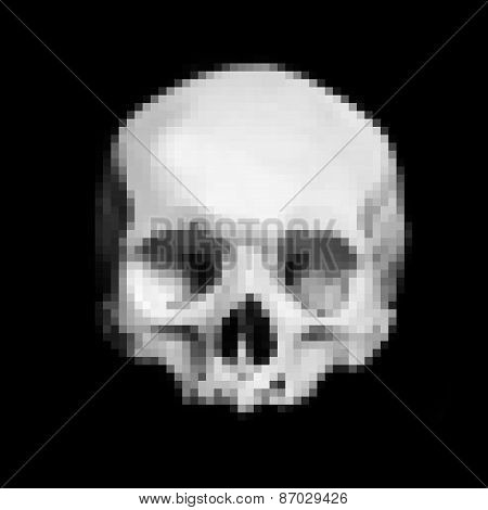 Dark Scream Scary Skull, Pixelization