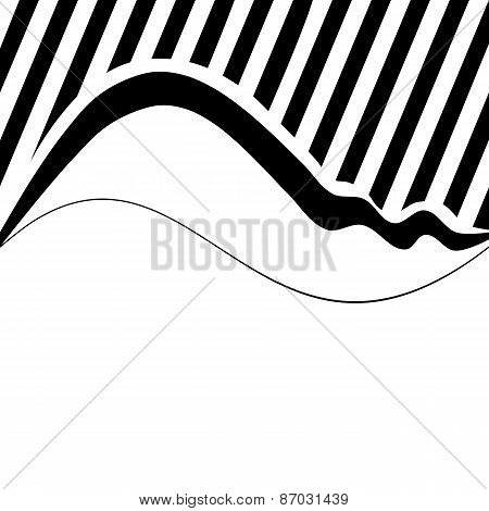 Decorative wavy background with narrow oblique stripes