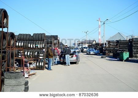 Market Of Second Hand Used Tyres In Vilnius City