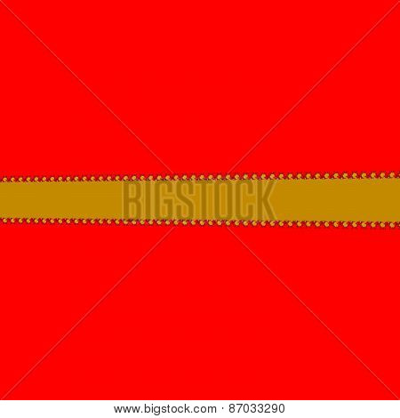 large red area broken gold band with fractal skirt