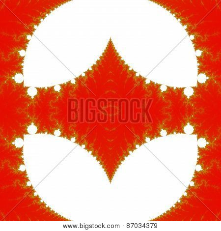 Abstract fractal design element usable as background