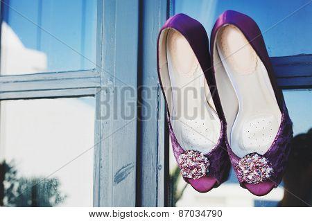 wedding purple heels
