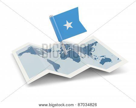 Map With Flag Of Somalia