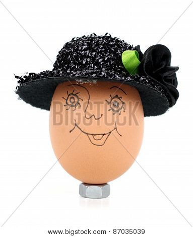 Egg With  Hat.