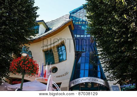 Crooked House On The Monte Cassino Street In Sopot