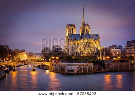 Cathedral Of Notre Dame, Ile De La Cite, Paris, France