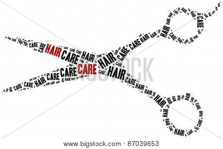 Hair Care. Word Cloud Illustration.