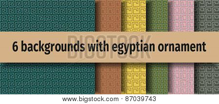 Ancient egyptian seamless backgrounds