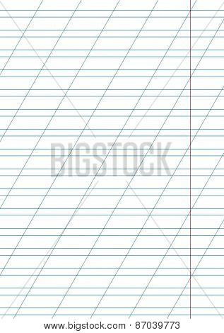 white notebook paper with margin