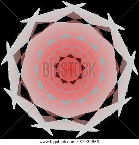 Sweet pink circular abstract shape
